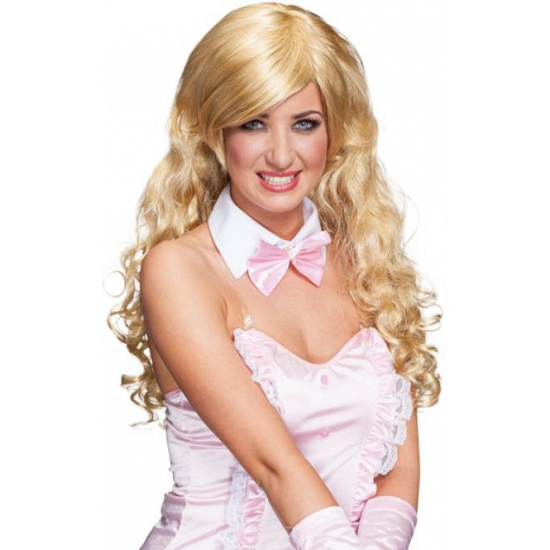 Blonde bunny pruik