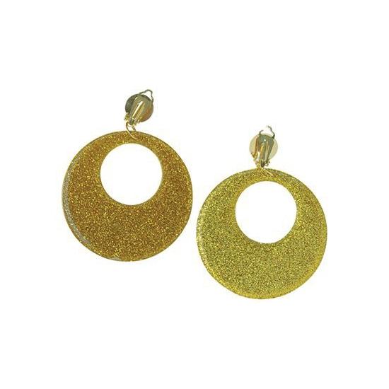 Disco oorbelen goud sixties stijl