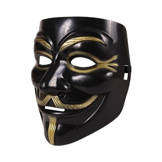 Feest Vendetta masker zwart