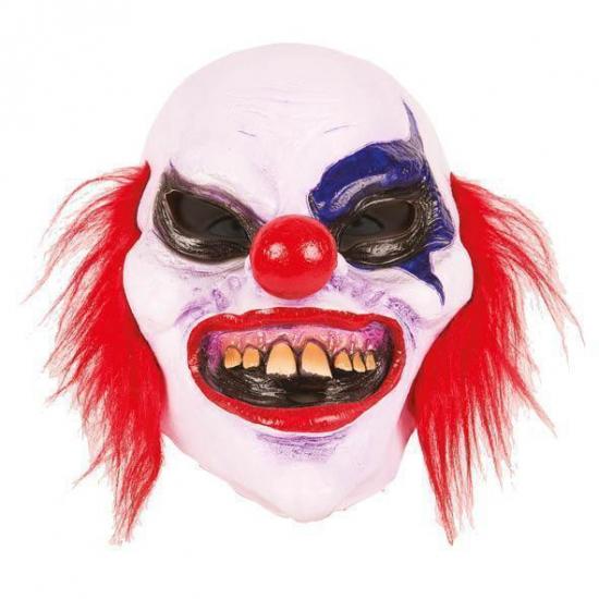Latex horror masker enge clown boldy