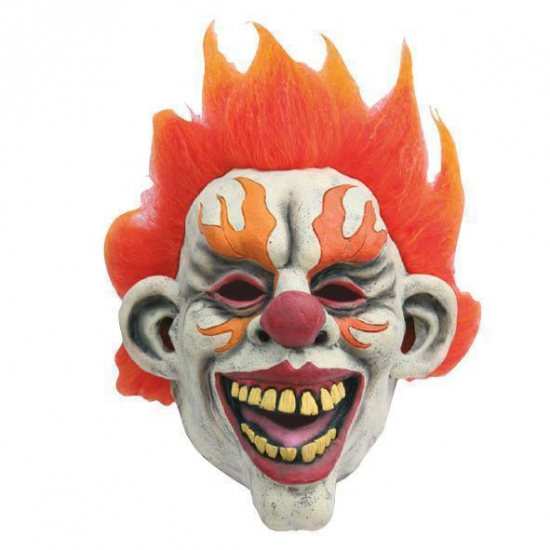 Latex horror masker enge clown flames