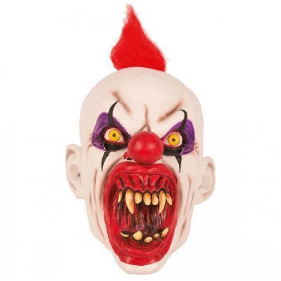 Latex horror masker enge clown punky