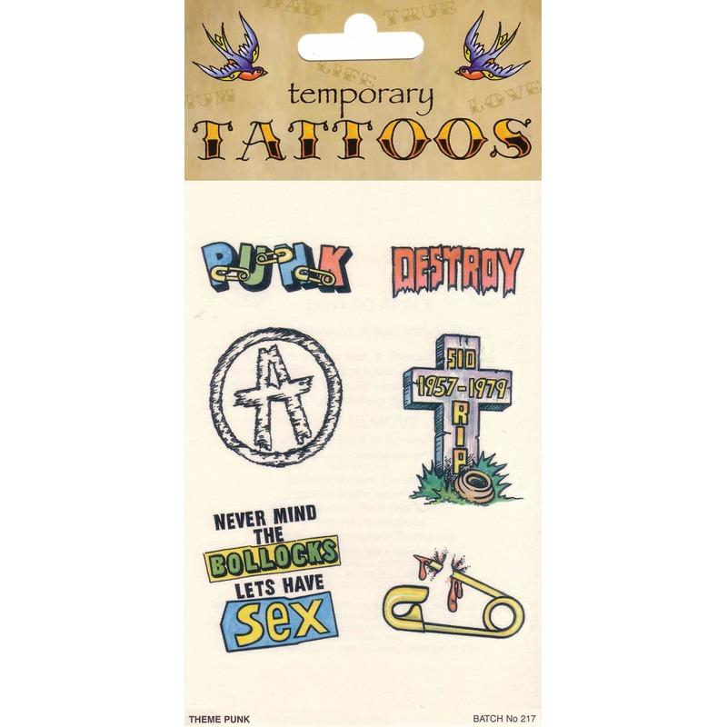 Punk Tattoos 6 Stuks