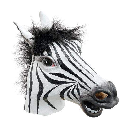 Rubber zebra masker