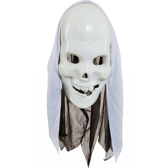 Wit Skelet Gezichtsmasker
